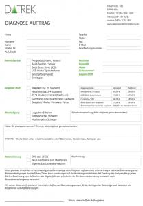 Datenwiederherstellung-Analyse-Auftragsformular